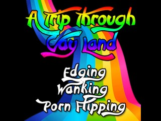 A trip through Gay land Edging Wanking Porn Flipping
